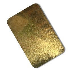 Stainless Steel Gold Vibration Sheets