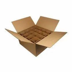 Kraft Paper 11-20 Kg Partition Corrugated Box, 4-6 mm