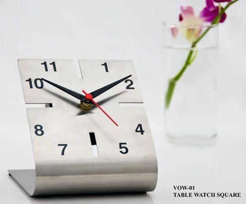 Stallion Stainless Steel Clock