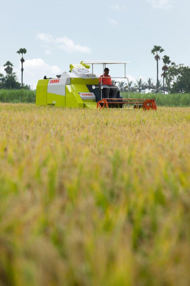 Claas Crop Tiger 40 Terra Trac 3200, 10 5 feet, 76 hp Combine Harvester