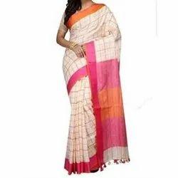 Ethnic Linen Saree, Length: 6.5 m