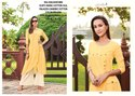 Rachna Cotton Satin Pattern Cut Catalog Kurti With Palazzo For Women 6