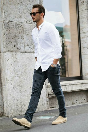 white shirt casual