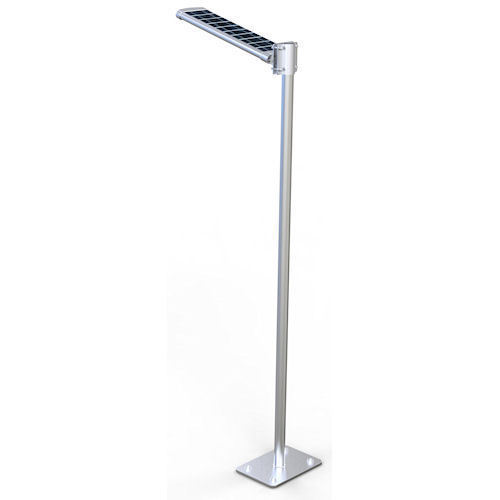 Mild Steel Solar Street Lights Pole With Panel, Rs 21000