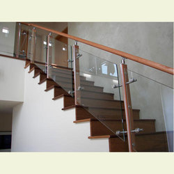 SS Glass Staircase Handrail
