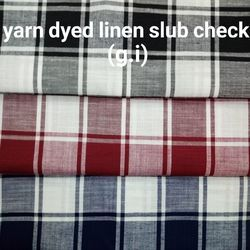 Yarn Dyed Linen Slub Check (G.I.)