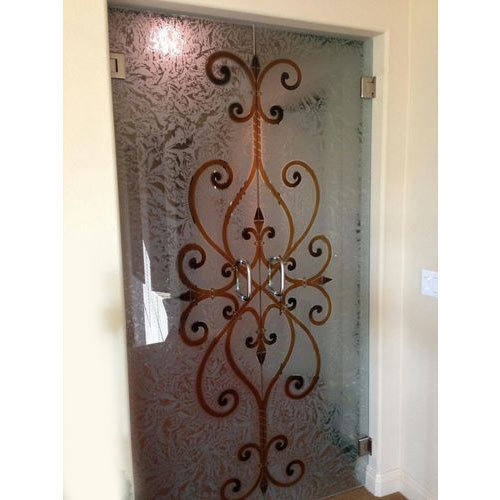 Door Etching Glass At Rs 450 Square Feet Door Glass Shaw Glass