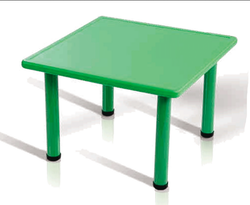 Green Plastic Square Table (Without Chair)