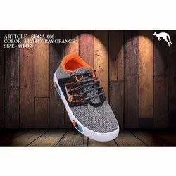 Sports Light Grey Orange Kids Sega 008 Shoes, Size: 5-11, Packaging Type: Box