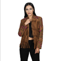 Ladies Fringes Leather Jacket