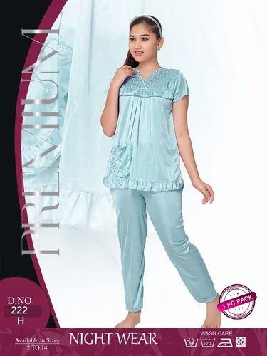0d6183fd2 Satin Girls Night Suits Micro