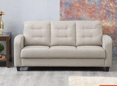 Montoya Serene Fabric Sofa 3 Seater Beige