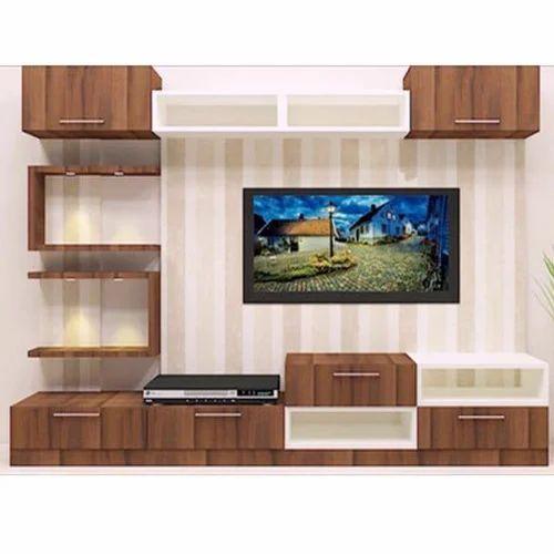 Brown Designer Tv Unit Rs 40000 Unit Lakshmi Interiors Exteriors Id 20116317573