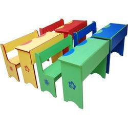 Colored School Benches