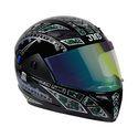 Trusty Glossy Black Finish Full Face Helmet