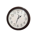 Brown Frame Ajanta Quartz Wall Clock