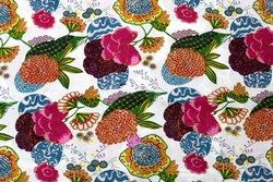 Multi Color Fruits Print Trendy Cotton Fabric, GSM: 50-100
