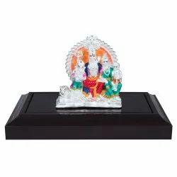 Multicolor Silver Shiv Parivar Statue, Box