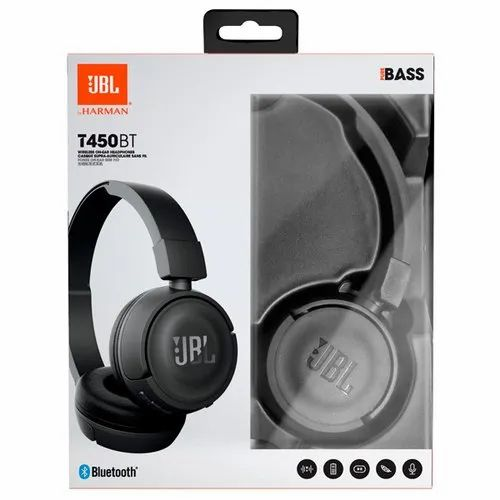 Foldable On Ear Jbl T450bt Extra Bass Wireless Headphones With Mic Black Rs 3399 Piece Id 21533564155