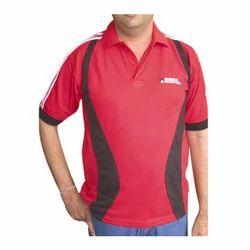 Cotton Red Hero Motocorp Worker T Shirt