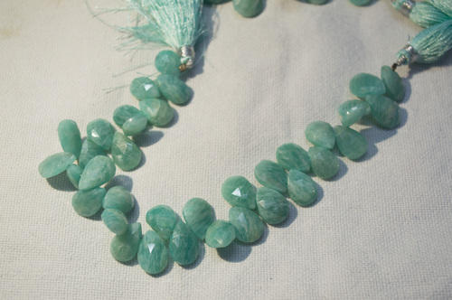 Natural Amazonite Pears Faceted