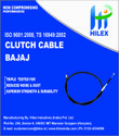 Black Two Wheeler Clutch Cable, Packaging Type: Pouch Packing, Size: 40