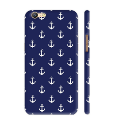 Colorpur Anchors On Blue Artwork On Oppo A57 Cover