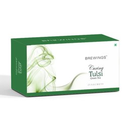 Brewings Curing Tulsi Green Tea, Packaging Size: 25 Sachets