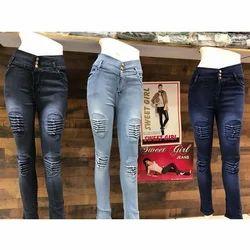 Ladies Comfort Denim Rude Jeans, Size: 26