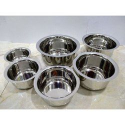 6 Piece Stainless Steel Tope Set, For Hotel/Restaurant, Size: 7-12 CM