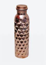 Hammered, Plain Hammered Copper Bottle