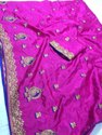 Women's Sana Silk Saree With Embroidery  Blouse And  Pipping