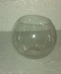 TRANSPARENT DECORATIVE BOWL Glass Rolly Polly Decoration 5'', For EVENT, Size: 4inch And 5inch