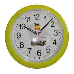 Yellow Analog Plastic Promotional Wall Clock, For Home