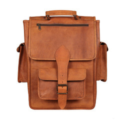 Brown Plain Office Leather Executive Bag