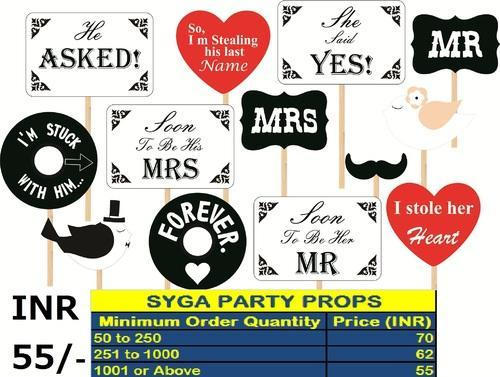 Party Props Set of 13 Wedding Party Themes