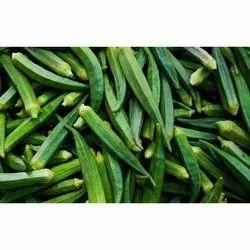 Green Fresh Lady Finger, 10 Kg