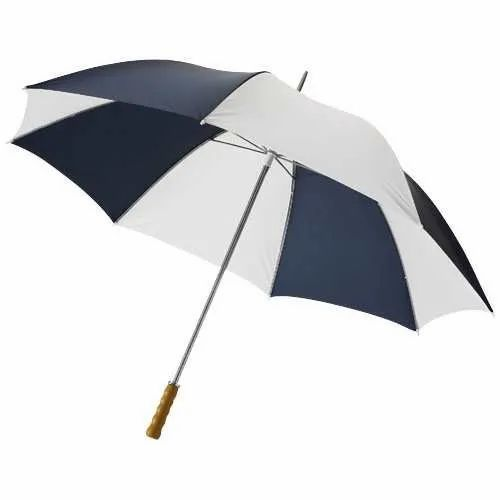 68e502be7 Black And White Plain Polyester Golf Umbrella, Rs 150 /piece | ID ...