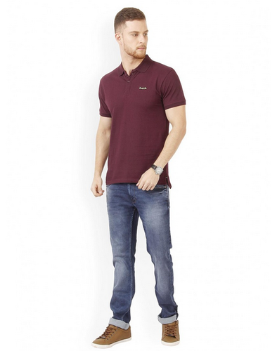 solid jeans t shirt