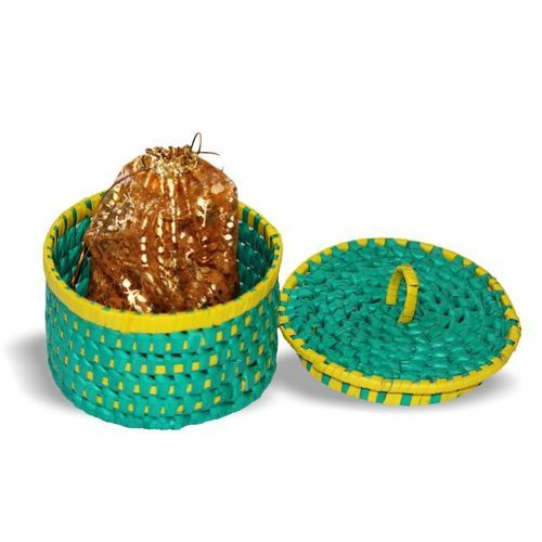 Palm Leaf Round Gift Box At Rs 300 Piece Palm Leaf Boxes Id