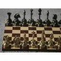 King 3.75 Brass Cavalary Chess Pieces