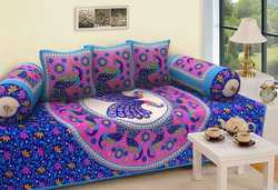 Jaipuri Cotton Diwan Bed Cover