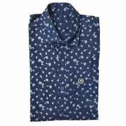 Smart-X Collar Neck Men's Printed Casual Shirt, Size: 38
