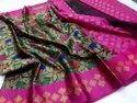Festive Wear 5.5 M (separate Blouse Piece) Banarasi Kora Muslin Tunchuy Saree