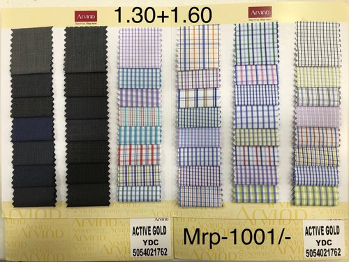 7578b301 Arvind Cotton Checkered Shirt FabricUn stitched Source · Arvind Cotton Shirt  And Trouser Fabrics Packaging Type Combo Pack