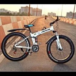 LAND ROVER White Fat Tyre Foldable Cycle