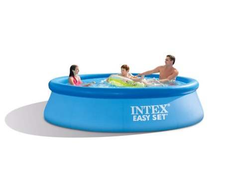 Blue Pvc Intex 10 Feet Diameter Inflatable Swimming Pool Dimension 10ft X 30in 30 Inches Rs 8000 Piece Id 20819129991