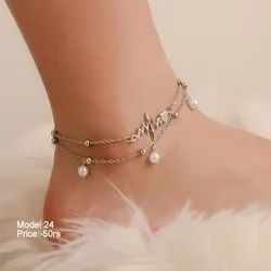 Crystal Alloy Pendant Anklet Chain