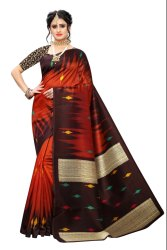 Fancy Printed Daily Wear Art Silk Saree