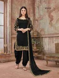Mirror Work Mix Colour Designer Patiala Salwar Suit